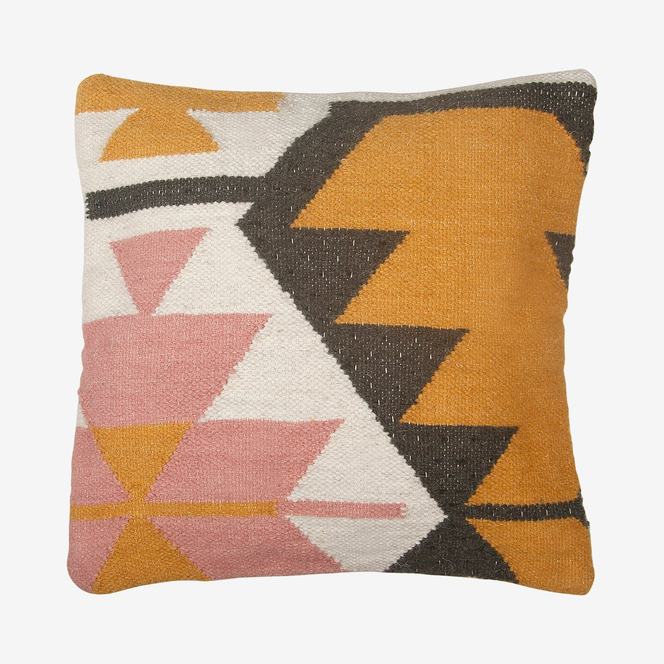 desert kilim geometric pillow cover blush