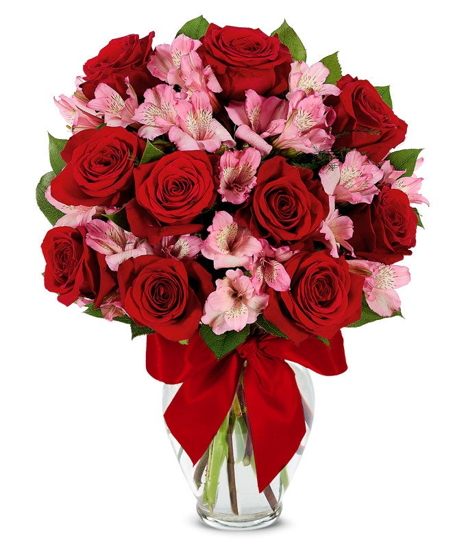 Rose Amp Alstroemeria Romance Bouquet At From You Flowers