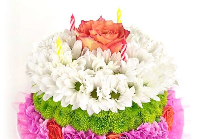 Happiest Birthday Flower Cake At From You Flowers