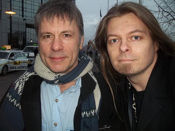 Bruce Dickinson och Peter Ahlborg. Foto: privat
