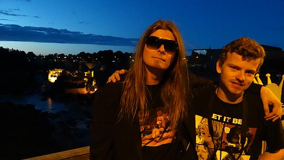 Peter Ahlborg och min gode vän  Charlie Källberg tillsammans under Fallens dagar. Foto: Privat