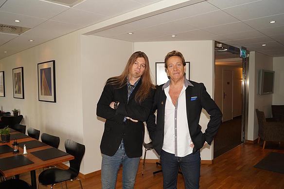 Peter Ahlborg och Björn Ranelid. Foto: Privat