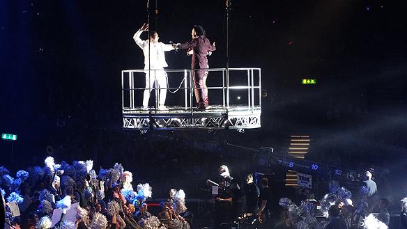 """Eric Saade med låten """"Sting"""" tog sig direkt till final i Melodifestivalen. Foto: Peter Ahlborg"""