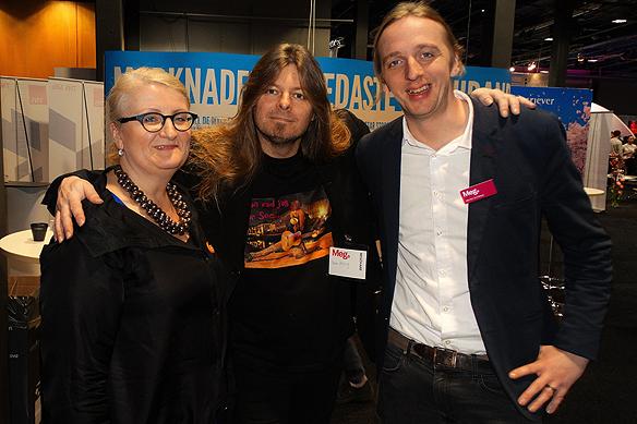 Peter Ahlborg tillsammans med två av grundarna till Blank Spot Projekt, Brit Stakston, mediastrateg och journalisten Martin Schibbye. Här tillsammans under   Mediedagarna i Göteborg den 5 mars 2015.