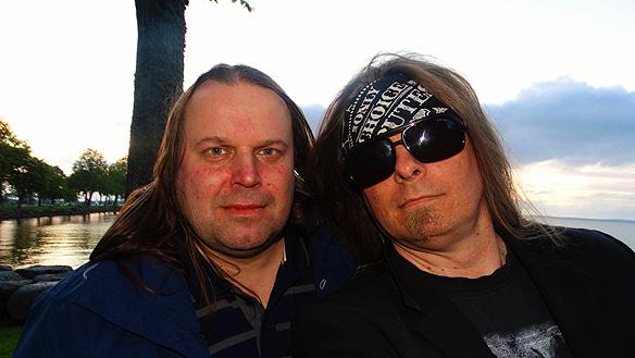 Hasse Sukis och Peter Ahlborg i Vadstena. Foto; Peter Ahlborg