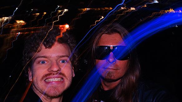 Peter Ahlborg med sin vän Charlie Källberg på Metallica! Wow!