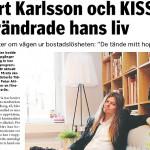 """Peter Ahlborg med i Västerås Tidning: """"Bert Karlsson och Kiss förändrade hans liv"""""""