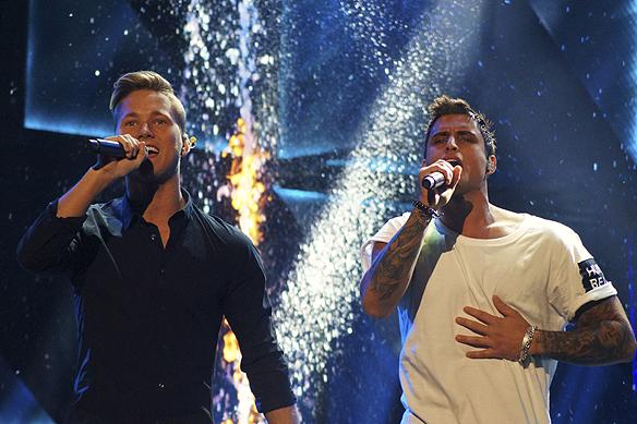 Idag 2016-03-05 tar Samir & Viktor revansch på hatarna och går direkt till final från andra chansen i Melodifestivalen. Foto: Peter Ahlborg