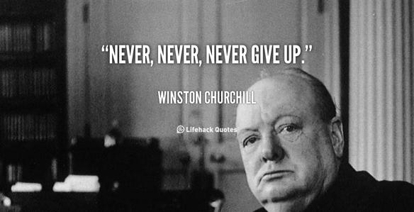"""Peter Ahlborgs låt; """"Ge aldrig upp"""" är inspirerad av statsmannen Winston Churchill som aldrig gav upp utan kämpade för att besegra Hitlers Tyskland under andra världskriget."""