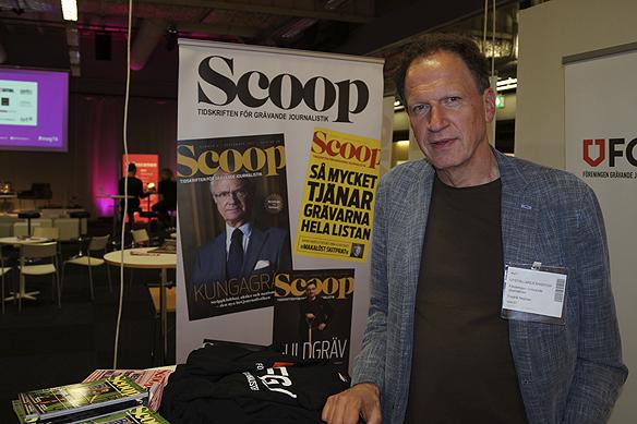 Granskande journalisten Fredrik Nejman, redaktör för tidskriften Scoop, besökte Mediadagarna i Göteborg 2016. Foto: Peter Ahlborg