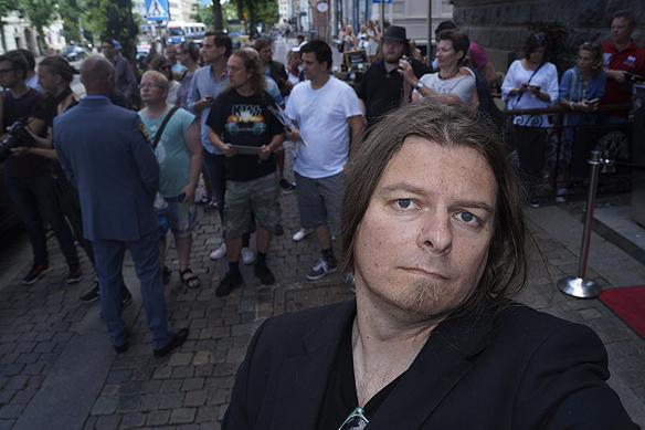 Peter Ahlborg bevakar när medlemmarna från E Street Band anländer till Elite Plaza i går den 21 juli 2016 vid 16.30 tiden till Göteborg. Foto: Peter Ahlborg