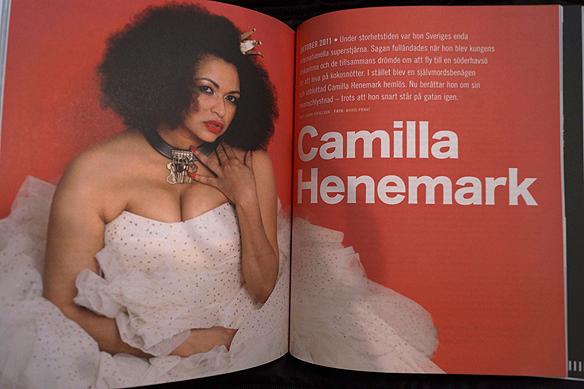 Camilla Henemark medverkar på ett stort reportage på sju sidor i Faktums jubileumsmagasin. Foto: Peter Ahlborg