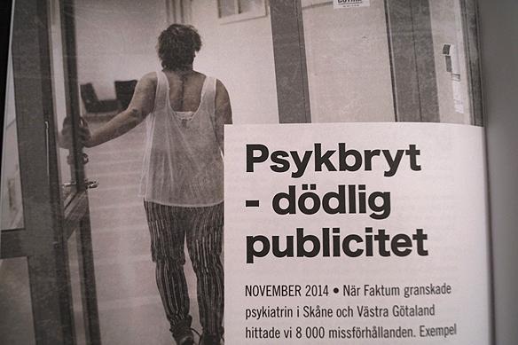Reportaget Psykbryt – dödlig publicitet – fick Tidningen Faktum en Guldspaden för. Missa inte detta och alla det andra viktiga reportagen i 15-års jubileumsmagasin från tidningen Faktum. Foto: Peter Ahlborg.
