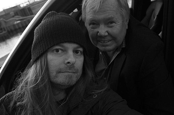 """Peter Ahlborg träffar Bert Karlsson. """"Jag är djupt imponerad av Bert Karlsson som entreprenör. Jag kommer berätta allt i min kommande bok om vad Bert avslöja och berätta för mig om sitt oerhört framgångsrika affärsliv, säger Peter Ahlborg. Foto: Peter Ahlborg"""