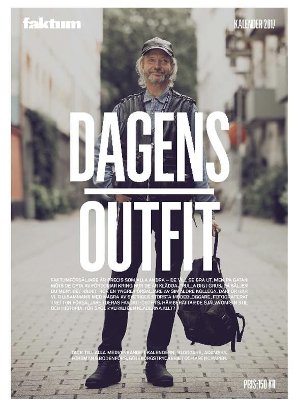 """Årets tema på Faktum kalendern för 2017 är """"Dagens outfit"""""""