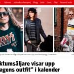 "Faktumsäljare visar upp ""dagens outfit"" i kalender"