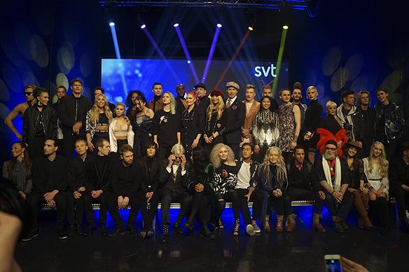 Alla artister som medverkar i Melodifestivalen 2017. Foto: Peter Ahlborg