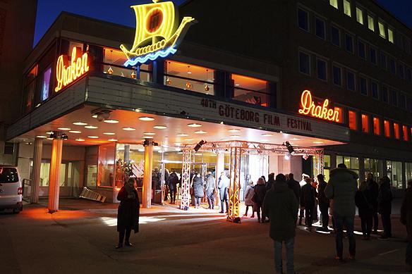 Göteborgs Film Festival inleds på biografen Draken den 27 januari kl 17 30, då det var världspremiär av filmen Tom of Finland, som visades samtidigt på 40 biografer runt om i regionen. Foto: Peter Ahlborg