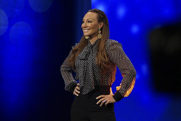 Charlotte Perrelli är den mest meriterad i Melodifestivalens sammanhang. Hon tävlar i Melodifestivalen för fjärde gången och kan stoltsera med två vinster i Melodifestivalen och en i Eurovision Song Contest. Hon är med i startfältet i Göteborg 4 februari 2017. Foto: Peter Ahlborg