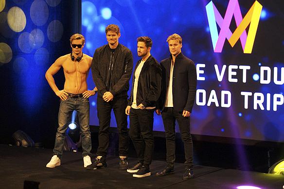 De populära Youtubestjärnorna i gruppen De Vet Du gör sin debut i Melodifestivalen i Göteborg 4 februari 2017. - De blir intressanta att följa, säger Peter Ahlborg. Foto: Peter Ahlborg