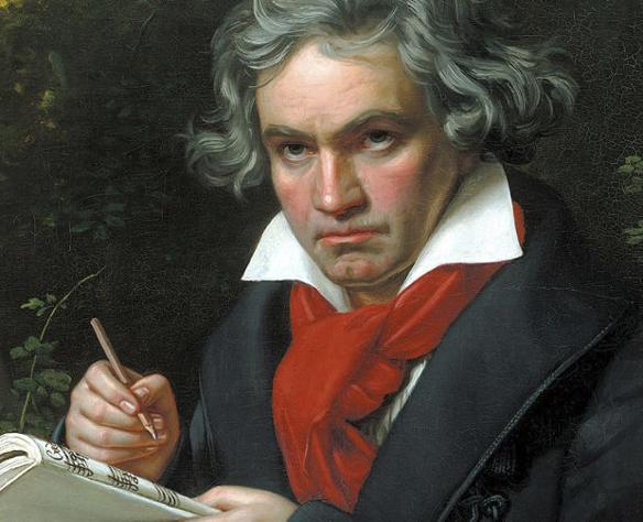 Peter Ahlborg har gjort en dikt för att hylla Ludwig van Beethoven. Ahlborg beundrar Beethoven och anser att han är en av de främsta kompositörerna i musik historien. Porträtt av Joseph Karl Stieler, 1820.