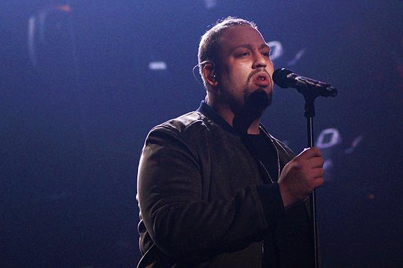 Nano gick direkt till final i final i Melodifestivalen från Göteborg 2017. Foto: Peter Ahlborg