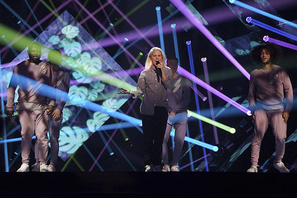 "Ace Wilder framför sitt bidrag ""Wild Child"" på repetition inför Melodifestivalen i Göteborg. Foto: Peter Ahlborg"
