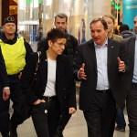 Statsminister Stefan Löfven besökte Göteborg och Nordstan