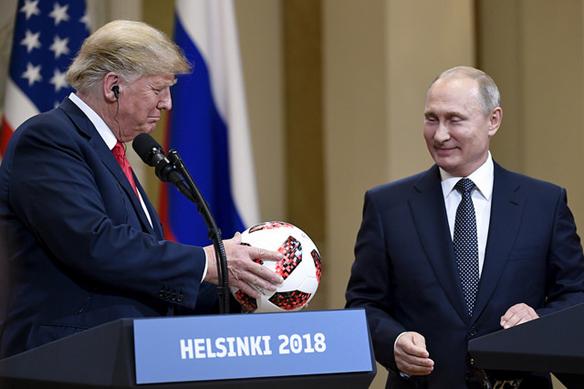USAs president Donald Trump och Rysslands president möts under ett toppmöte måndagen den 16 juli 2018 i Helsingfors. Och all världens journalister bevakar mötet. Foto: Antti Aimo-Koivisto/Lehtikuva, #HELSINKI2018, Flickr