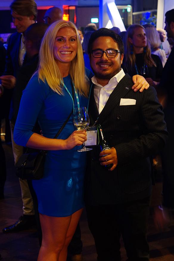 Mari Sonnerfors tillsammans här med sin sambo Jakob Steinströ på Moderaternas valvaka. Foto: Peter Ahlborg