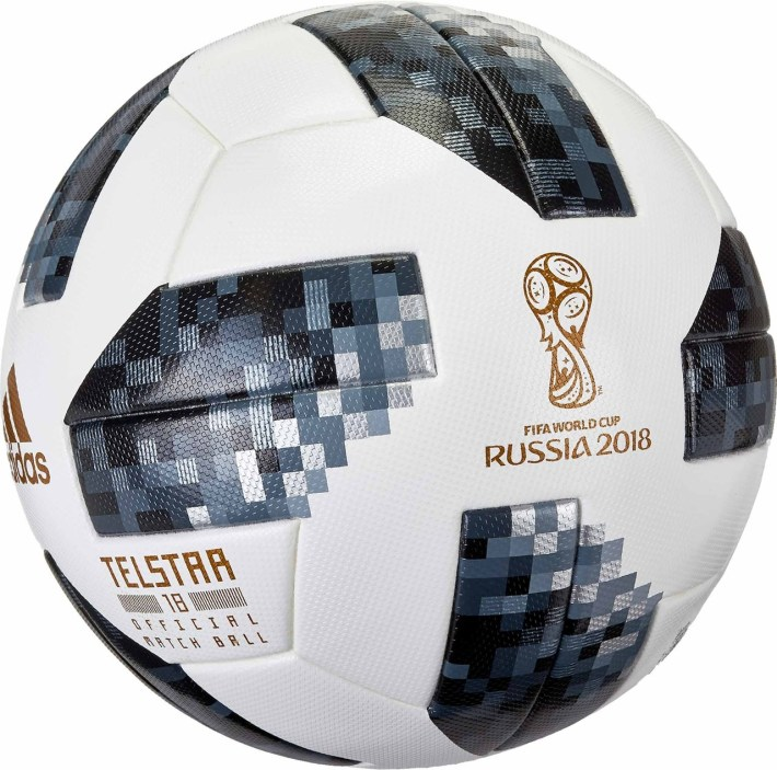 The Telstar 18 football used in the 2018 World Cup