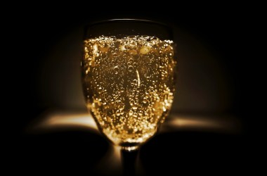 Bubbles upon the wall of a wine glass