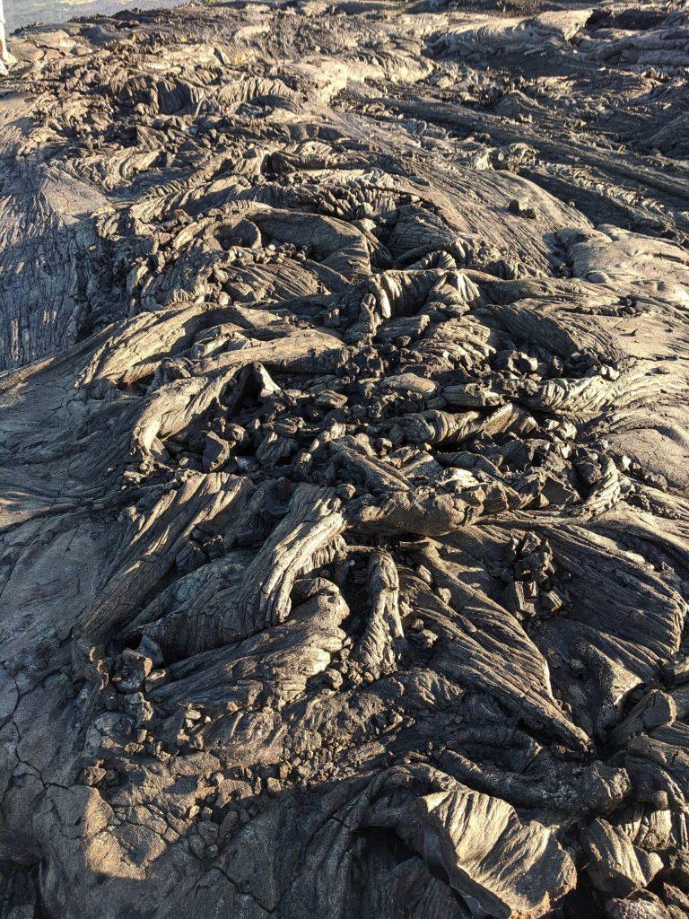 Pahoehoe lava flows in Hawaii.