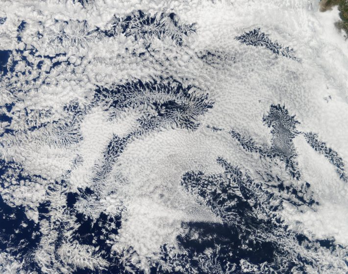 Stratocumulus clouds over the South Pacific.