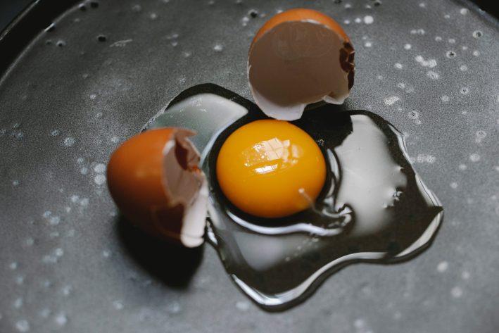 An egg yolk.