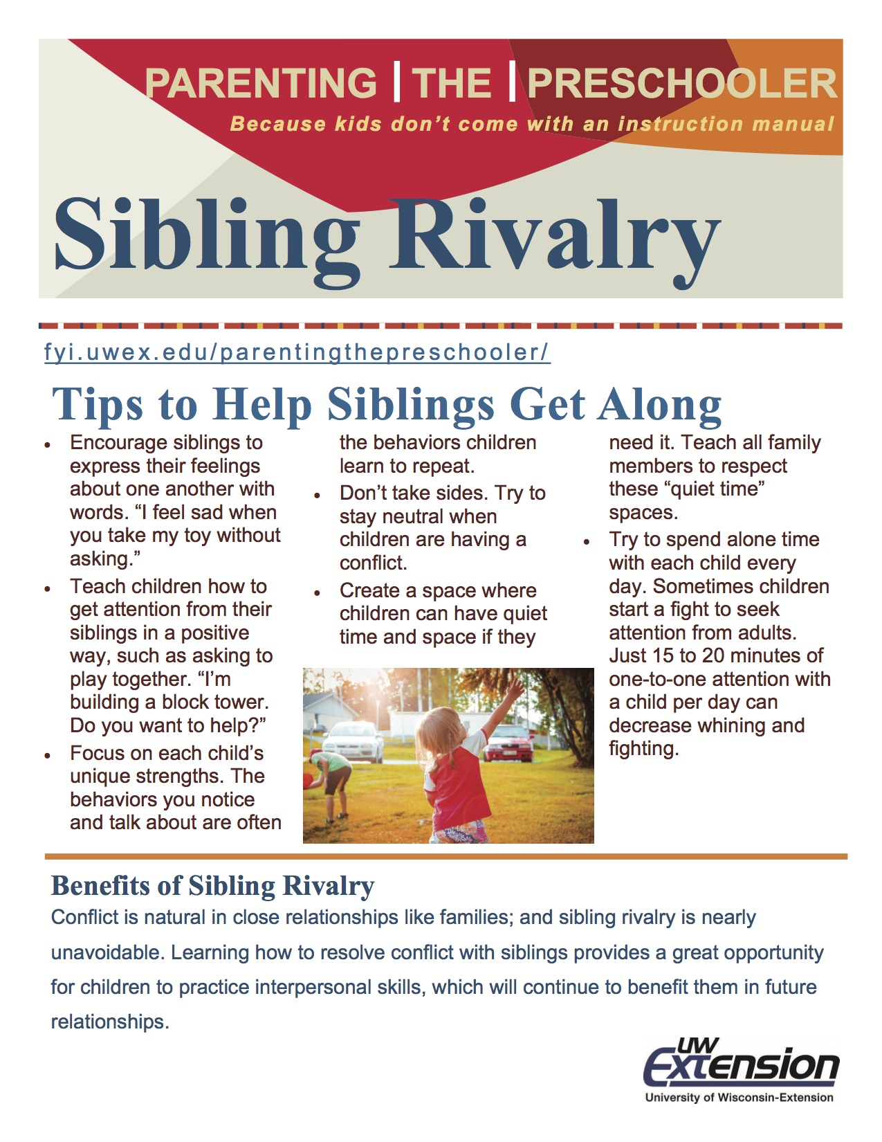 Sibling Rivalry Parenting The Preschooler