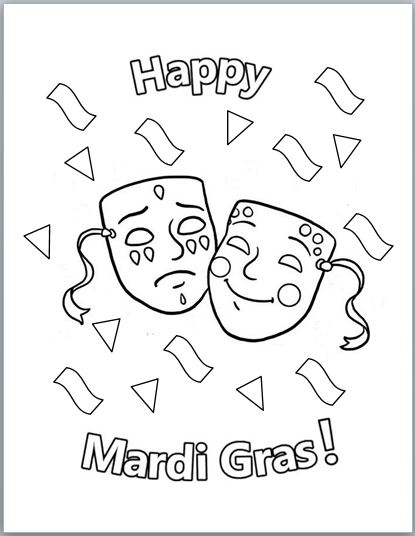 mardi gras coloring pages free printable # 6