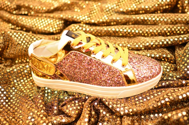 Pink & Gold Patent Heka Womens Sneaker