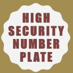 High security number plate