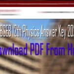bihar board physics answer key 2020