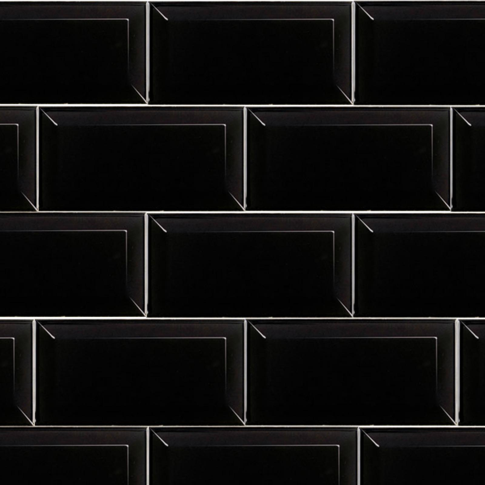 Subway Black 10cm X 20cm Wall Tile