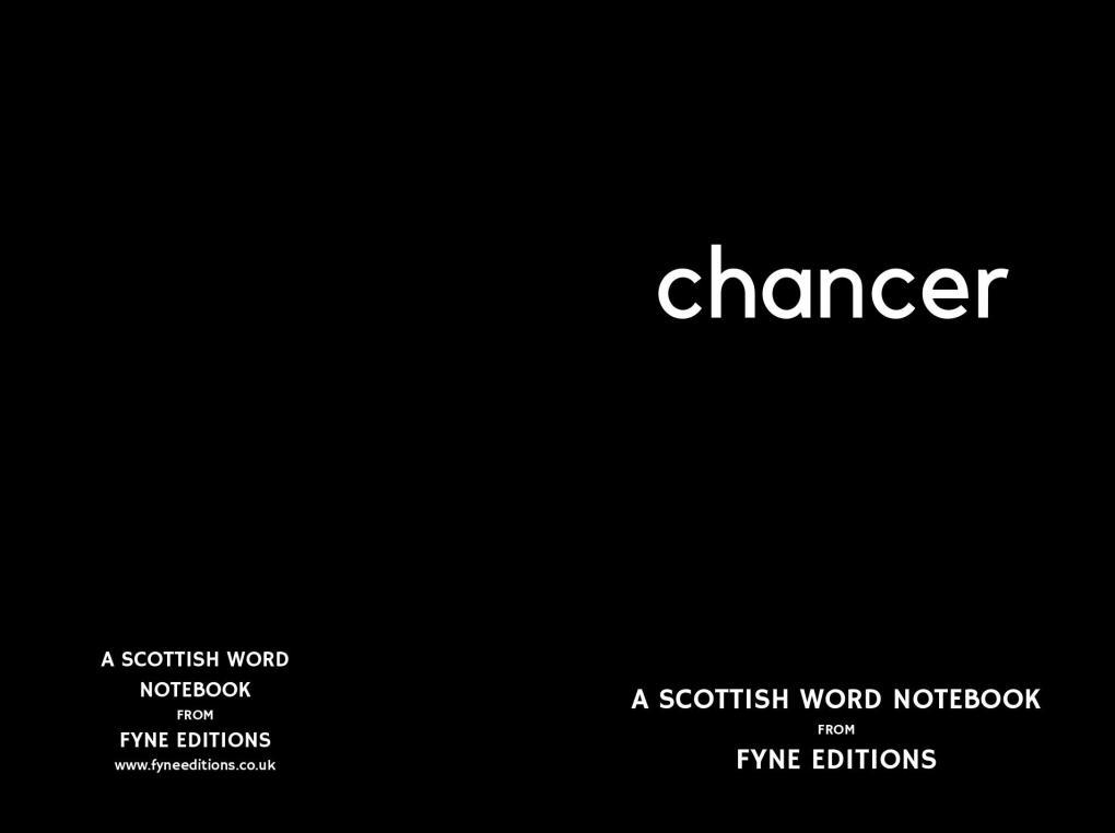 Chancer - A Scottish Words Notebook