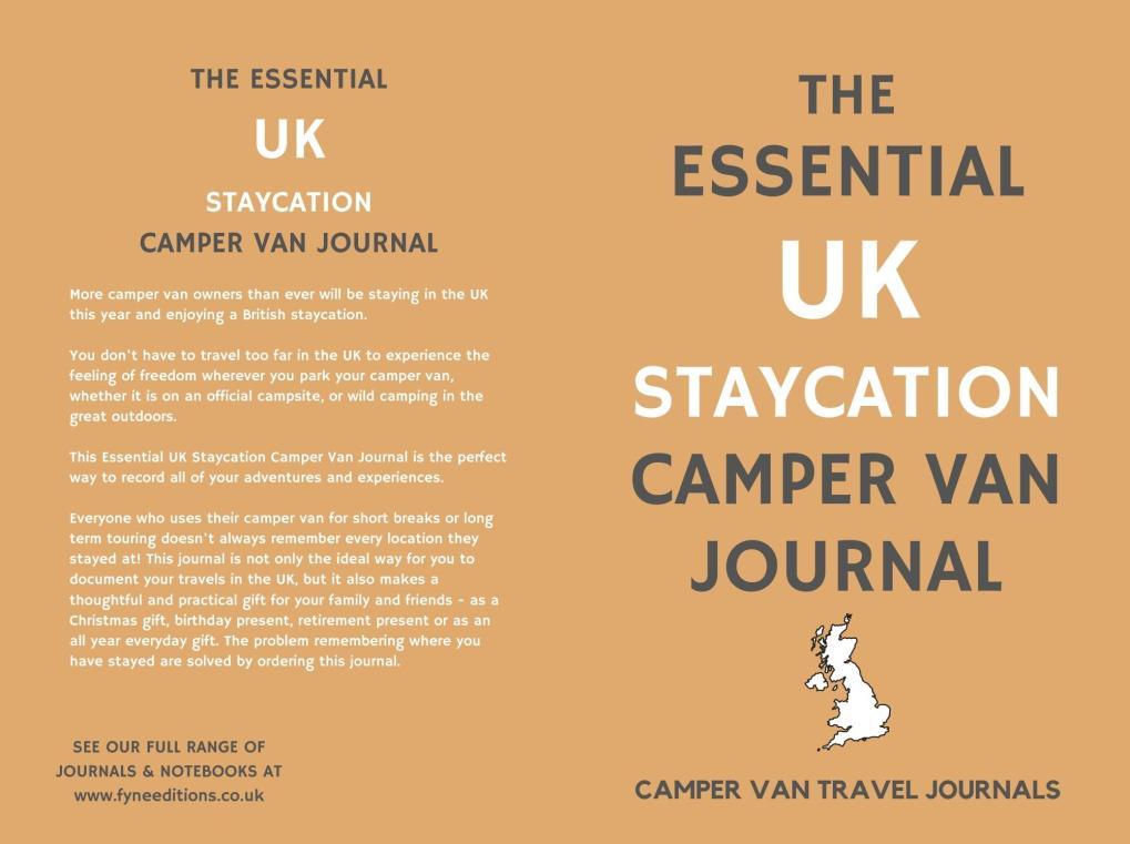 The Essential UK Staycation Camper Van Journal