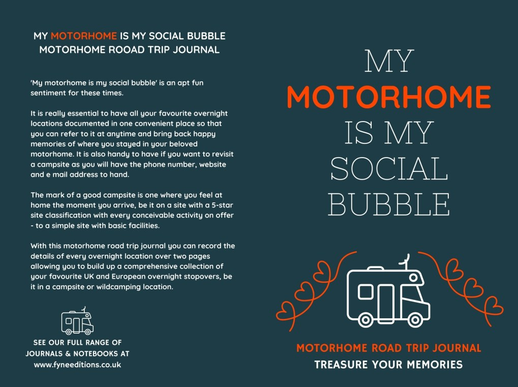My Motorhome Is My Social Bubble - Journal Cover
