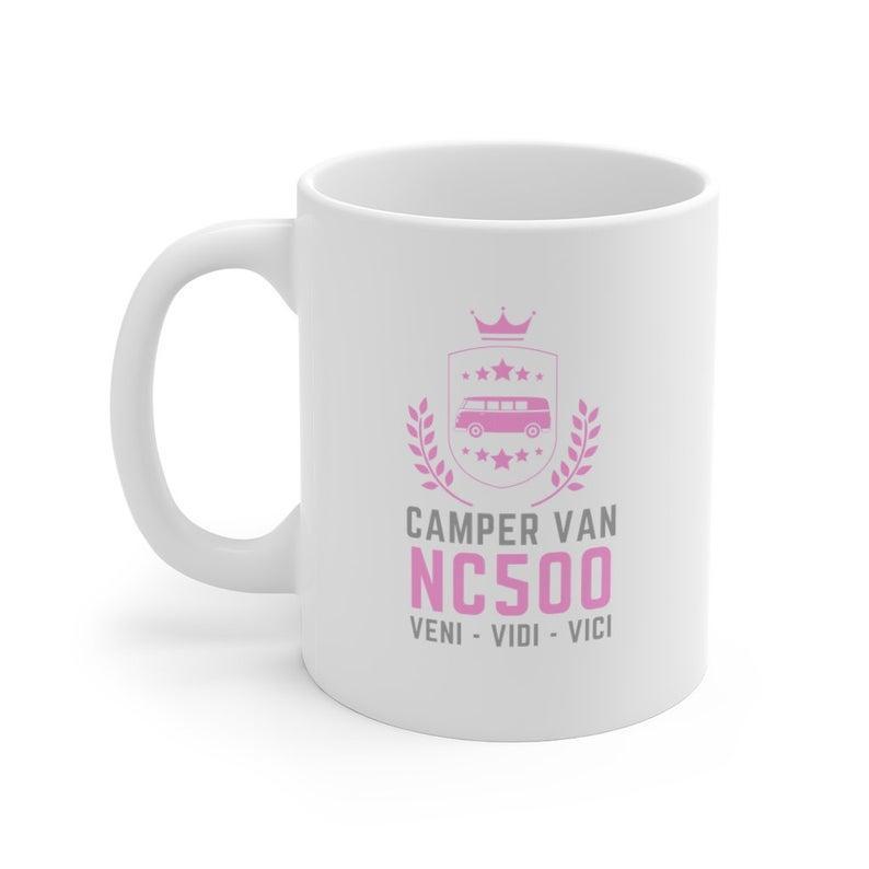 Camper Van NC500 Veni Vidi Vici Pink Mug
