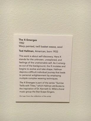 The X Emerges (Description)