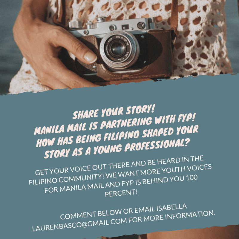 Call for Filipino stories, FYP and Manila Mail collaborate to share stories of Filipino Americans