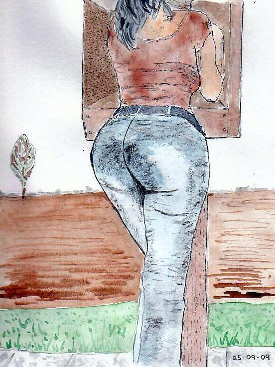 Pencil & watercolour 25.09.09