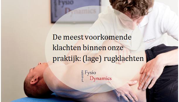 lage rugpijn fysiotherapie purmerend