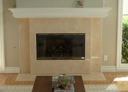 Custom Wrap-Around Fireplace Mantle